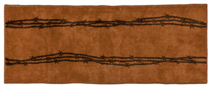 "(HXBW3190CH-2460) ""Western Barbwire Chocolate"" Bath/Kitchen Runner Rug - 24"" x 60"""