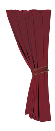 "(HXFB3838C) ""Lorenza"" Western Curtain Panel with Decorative Tie-Back"