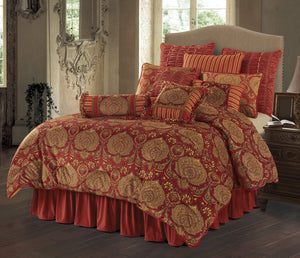 "(HXFB3838SQ) ""Lorenza"" Western 4-Piece Bedding Set - Super Queen"