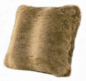 (HXPL4001WOLF) Faux Wolf Fur Decorative Pillow