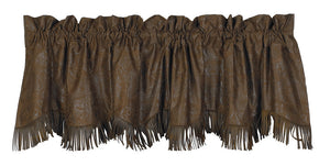 (HXVL1004) Western Faux Tooled Leather Valance