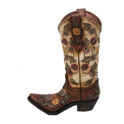 (HXWD7001) Western Floral Boot Vase