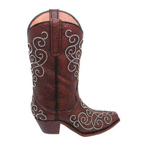 (HXWD7010) Western Studded Boot Vase