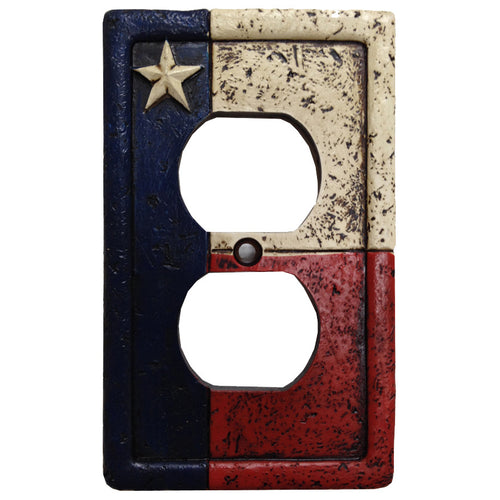 (HXWD8008-SO) Texas Single Outlet Plate