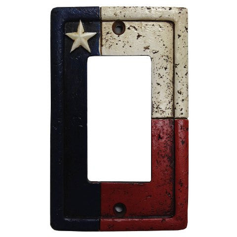 (HXWD8008-SR) Texas Single Rocker Switch Plate