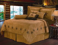 "(HXWS2010-SK) 7-Pc Super King ""Luxury Star"" Western Comforter Set"
