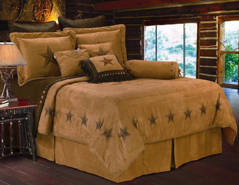 "(HXWS2010-SQ) 7-Pc Super Queen ""Luxury Star"" Western Comforter Set"