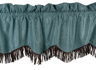 "(HXWS4001TQVL) ""Cheyenne Turquoise"" Faux Leather Valance"