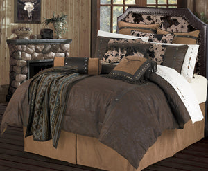 "(HXWS4002F) ""Caldwell"" Western 4-Piece Comforter Set - Full"