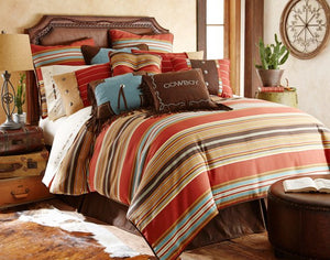 "(HXWS4060K) ""Calhoun"" Western Bedding Set - King"