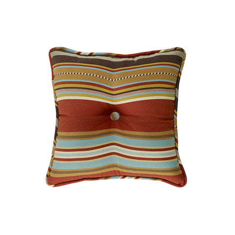 "(HXWS4060P3) ""Calhoun"" Western Striped Tufted Accent Pillow"