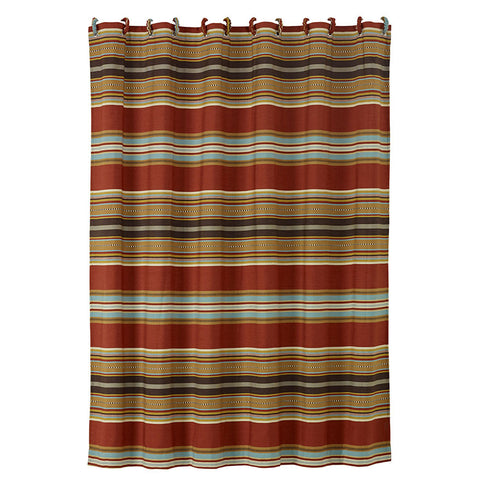"(HXWS4060SC) ""Calhoun"" Western Shower Curtain"