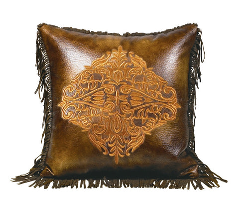 "(HXWS4068P2) ""Austin"" Western Accent Pillow Embroidered"