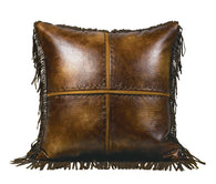 "(HXWS4068P5) ""Austin"" Western Cross Stiched Accent Pillow"