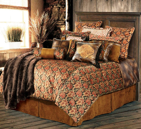 "(HXWS4068SQ) ""Austin"" Western 5-Piece Bedding Ensemble Super Queen"