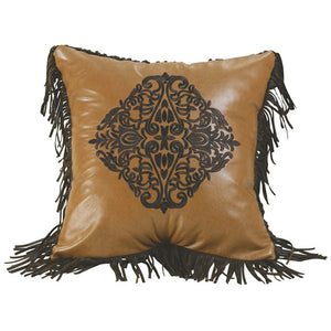 "(HXWS4183P2) ""Las Cruces"" Western Embroidered Medallion Pillow"