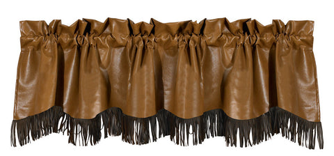 "(HXWS4182V2) ""Las Cruces"" Western Valance with Fringe"