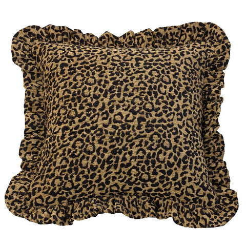 "(HXWS4287P2) ""San Angelo"" Western Leopard Print Decorative Pillow  18"" x 18"""