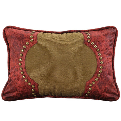 HXWS40P40 San Angelo Western Red Tan Faux Leather Decorative Mesmerizing Faux Leather Pillows Decorative Pillows