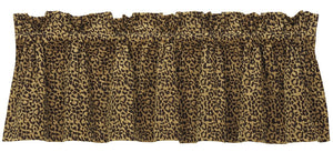 "(HXWS4287V2) ""San Angelo"" Western Leopard Valance"