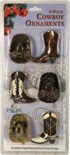 Load image into Gallery viewer, (RE867) Cowboy Ornaments - 6 Pack