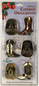 (RE867) Cowboy Ornaments - 6 Pack