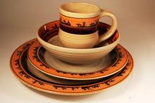 "Load image into Gallery viewer, (ART-DS516) ""Cowboy"" Western 16-Piece Dinnerware Set"