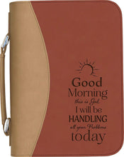 "Load image into Gallery viewer, (PGD-BBX13) ""Good Morning, This is God"" Bible Cover"