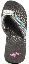"Load image into Gallery viewer, (MFW411301) ""Maggie"" Ladies' Western Flip-Flops by Blazin' Roxx"