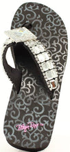 "Load image into Gallery viewer, (MFW4113201) ""Maggie"" Ladies' Western Flip-Flops by Blazin' Roxx"