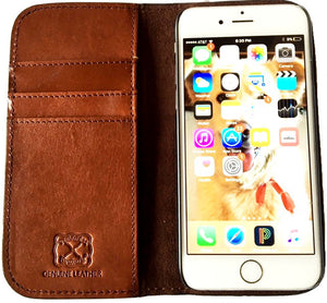 (WFAXWP3-7) Twisted-X Western Basketweave Cell Phone Case/Wallet for iPhone 6