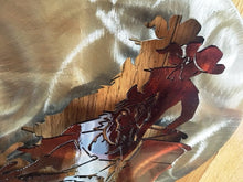 "Load image into Gallery viewer, (SI-3DT464C) ""Barrel Racer"" Western Metal Art"