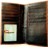 (MFWN54500129) Western Men's Rodeo Wallet/Checkbook Cover by Nocona