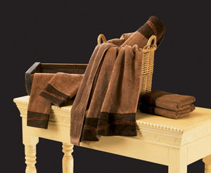 "(HXTW3190) ""Embroidered Barbwire"" Western 3-Pc. Towel Set"