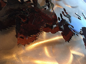 "(SI-3DT224C) ""Wild Mountain Horses"" Western Metal Art"