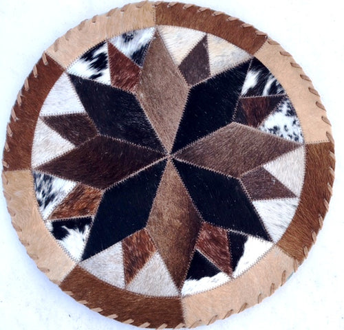 Western Cowhide Indian Star Placemat - 2 Sizes Available