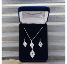 Load image into Gallery viewer, Summer Skies Double Diamond Jewelry Set
