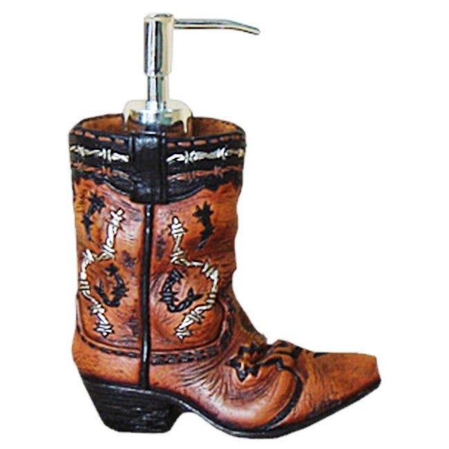 (JT-87-1221) Cowboy Boot Soap Dispenser