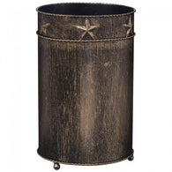 (JT-87-1347-250) Western Star Trash Can - Black & Bronze