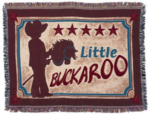 "(JT-87-3650-E15) ""Little Buckaroo"" Western Kid's Throw"