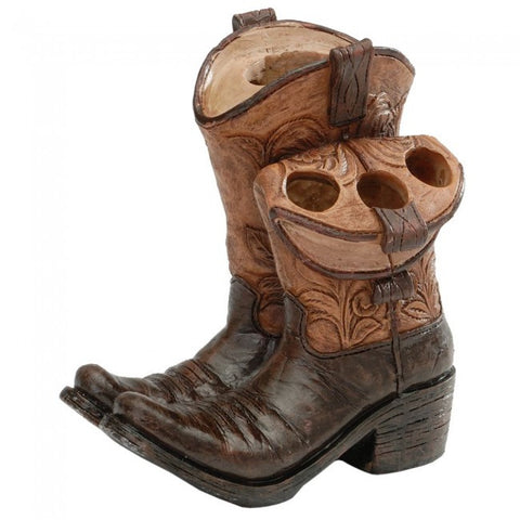 (JT-87-4622) Cowboy Boots Toothbrush & Toothpaste Holder