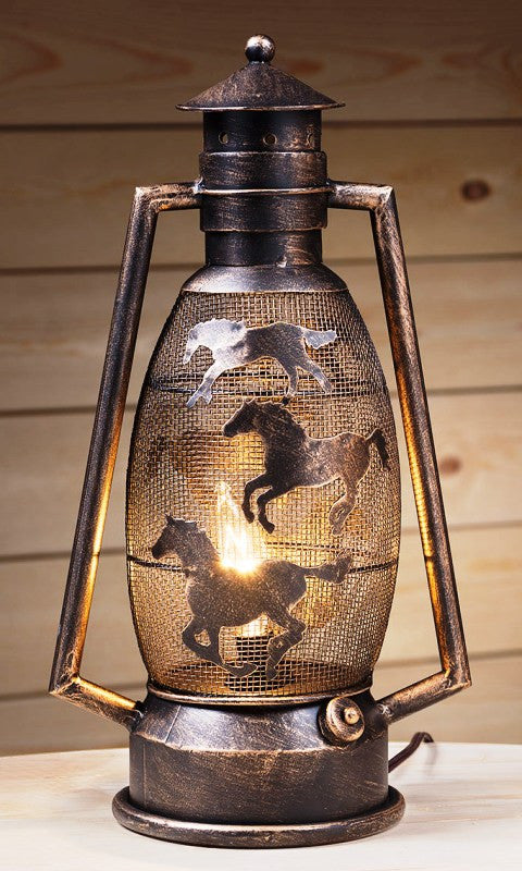 Western Cutout Metal 15 Quot Lantern Lamp Choose Style Color