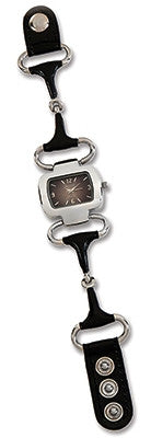 (KCJ486BK) Western Snaffle Bit Watch - Black