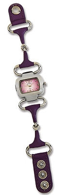 (KCJ486PU) Western Snaffle Bit Watch - Purple
