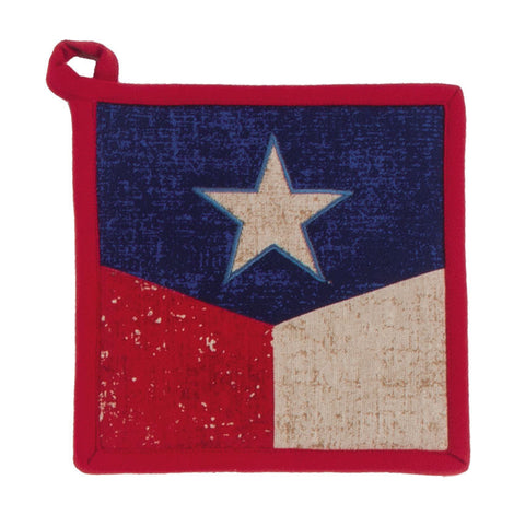 "(KD-R1632) ""State of Texas"" Vintage Western Pot Holder"