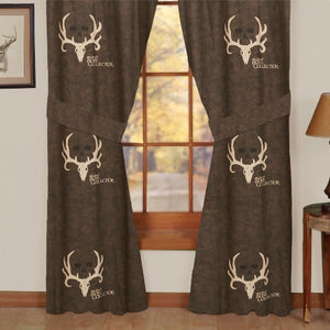 "(KMBCBNC) ""Bone Collector Brown"" Drapes"