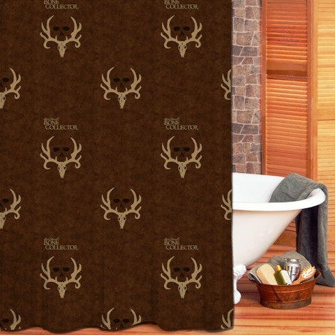 "(KMBCBNSC) ""Bone Collector Brown"" Shower Curtain"