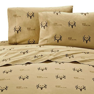 "(KMBCBNSSQ) ""Bone Collector Brown"" Sheet Set - Queen"