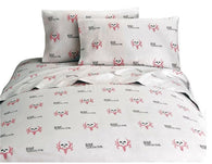 "(KMBCPKSSQ) ""Bone Collector Pink"" Sheet Set - Queen"