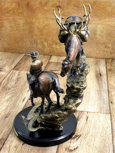"""Last Creek Crossing"" Western Sculpture by Marc Pierce"